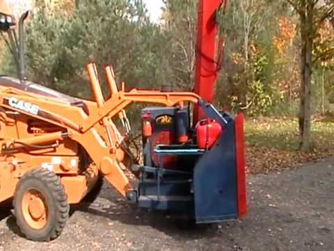 snowblower attachment for backhoe or tractor pt.3 - YouTube