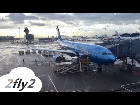 ETIHAD AIRWAYS AIRBUS A330 HONG KONG – ABU DHABI ECONOMY CLASS (Manchester City livery) HD