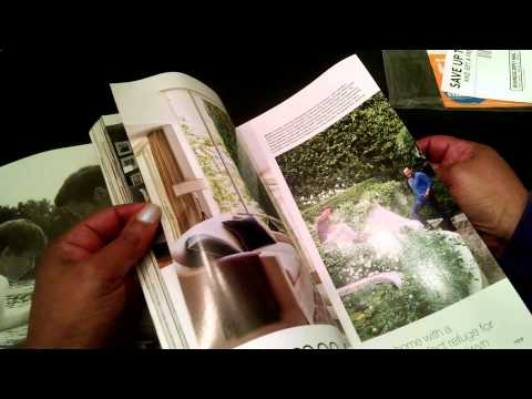 ASMR  Architectural Digest Magazine Flip (whispering and eating hard candy)