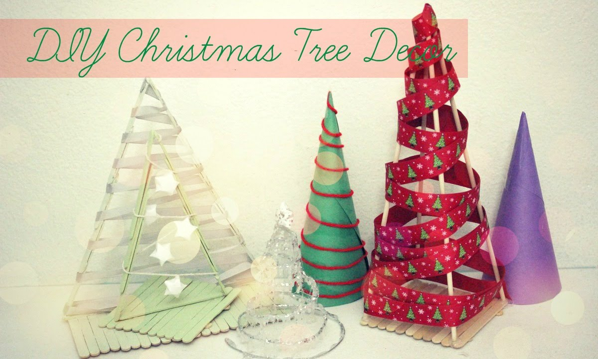 diy christmas trees festival desk decor popsicle stick diy projects youtube