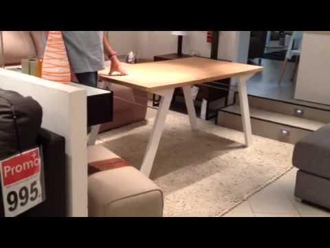 Presentacion mesa centro elevable convertible en comedor