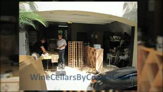 Residential Custom Wine Cellars Builder Orange County Irvine Ca -- Garage Wine Room Peek