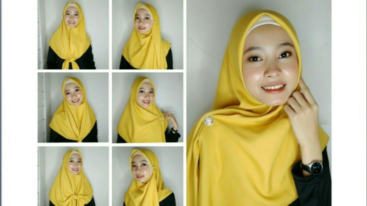 Tutorial Hijab Segiempat Menutup Dada Youtube