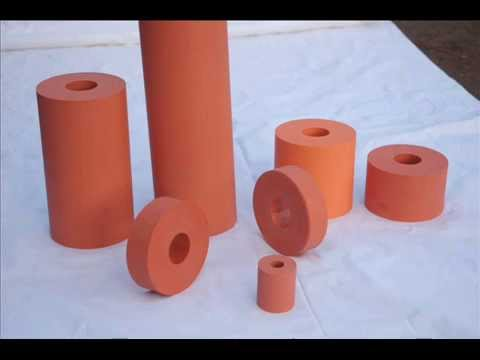 Silicone Rubber Roller Hot Stamping Youtube