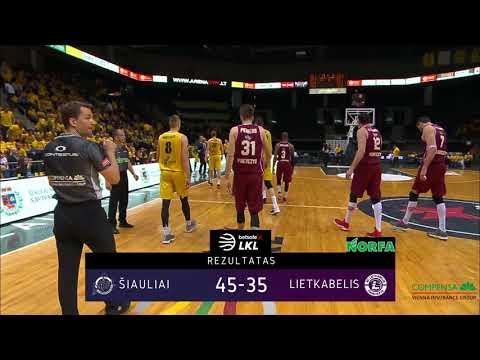 """""""Betsafe–LKL"""" rungtynių apžvalga: """"Šiauliai"""" - """"Lietkabelis"""" [2018-05-15]"""