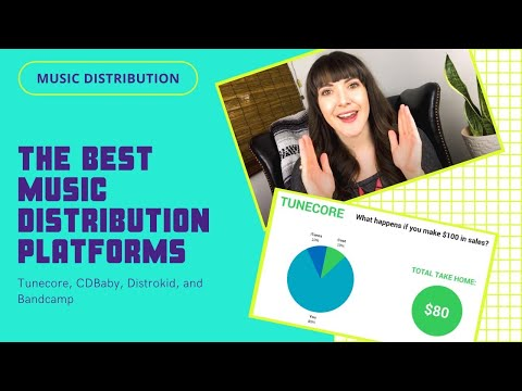 Digital Music Distribution: Tunecore, Distrokid, CD Baby, Bandcamp reviews