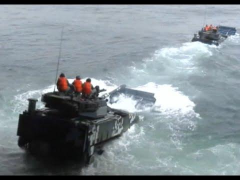 Chinese South China Sea Fleet Drills its Marines on Beach Head Assaults