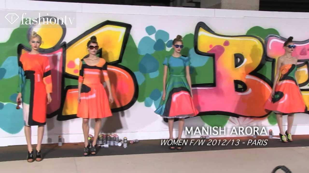 Manish Arora Fall 2012 Graffiti Prints On Feminine Silhouettes Paris Fashion Week Pfw Fashiontv