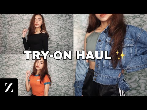CLOTHING TRY-ON HAUL WORTH 10,000 PESOS ft. ZAFUL (Philippines)