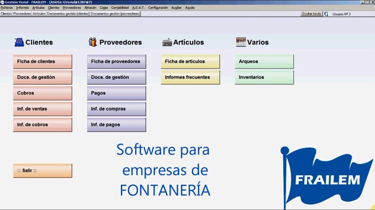 Software para gestionar empresas de Fontanería - YouTube