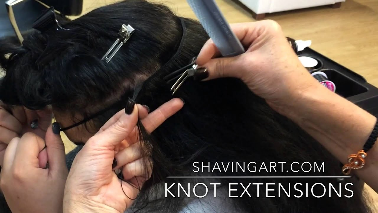 How To Knot Hair Extensions Tied Hair Extensions Youtube