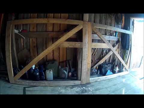 Как сделать каркас для деревянных ворот