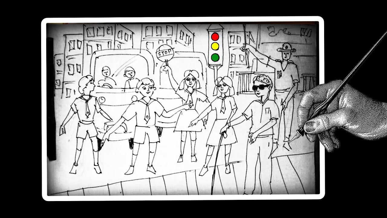 How to draw Road Safety    Save Drive Save Life    Traffic Rules And ...