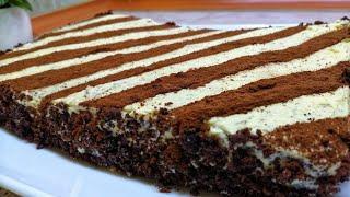 Большой Торт всего из 3 яиц👍 Секрет в бисквите  3ta Tuxumdan Barakali tort😍Hamma siri biskvitida👌
