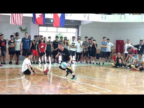 The Professor vs Coach in Yunlin, Taiwan. ANKLE BREAKER to end game.