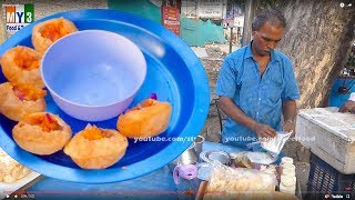 Crispy Hollow Puri Filled with a Mixture of Flavored Water Pani Puri Street Food