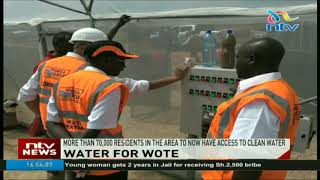 Clean water for Wote residents after Makueni govt, Kenya Red Cross commission  treatment plants