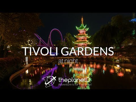 A Tour of Tivoli Gardens at night in Copenhagen