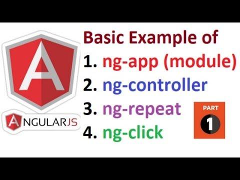 Basic Example Of Angularjs For Beginners Part 1 Youtube