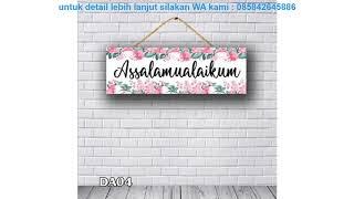 Review  Promo  Wall Decor Art/hiasan Dinding/dekorasi Rumah Assalamualaikum  Da04 /amitovintagement