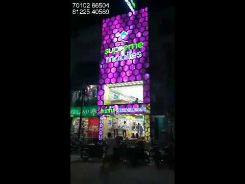 Showroom Elevation Design ACP LED Light Facade Shopping Mall Store India +91 81225 40589