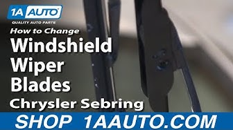 How to Replace Windshield Wiper Blades 01-06 Chrysler Sebring Dodge Stratus