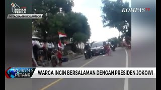 Viral, Emak-Emak Tidur di Jalan Hadang Mobil Jokowi