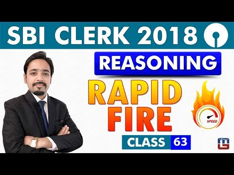 SBI Clerk Prelims 2018 | Rapid Fire | Reasoning | 11:00 am | Class - 63