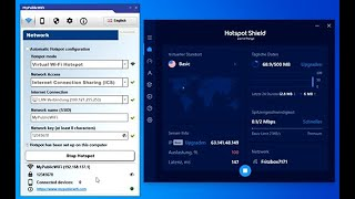 MyPublicWiFi: Share Hotspot Shield VPN connection over WiFi Hotspot to all your WiFi Devices screenshot 1