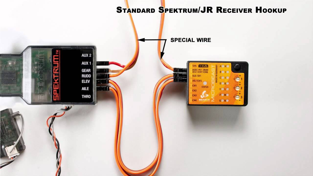 maxresdefault microbeast v3 standard spektrum or jr receiver connection youtube spektrum ar8000 wiring diagram at gsmx.co