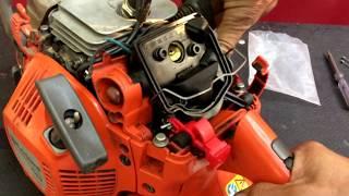 Husqvarna 445 нюансы замены тросика газа