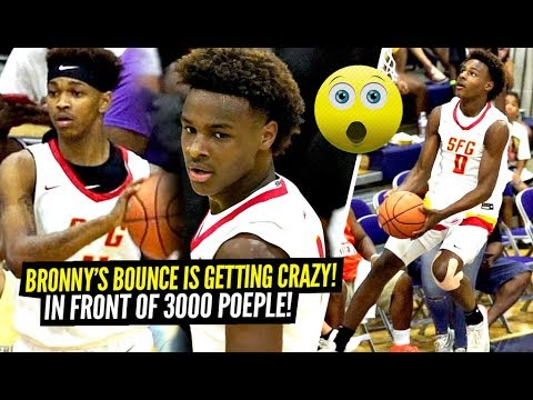 3000 People Came To Watch The BRONNY JAMES SHOW Try CRAZY Dunks!! Dior Is TOO NICE!