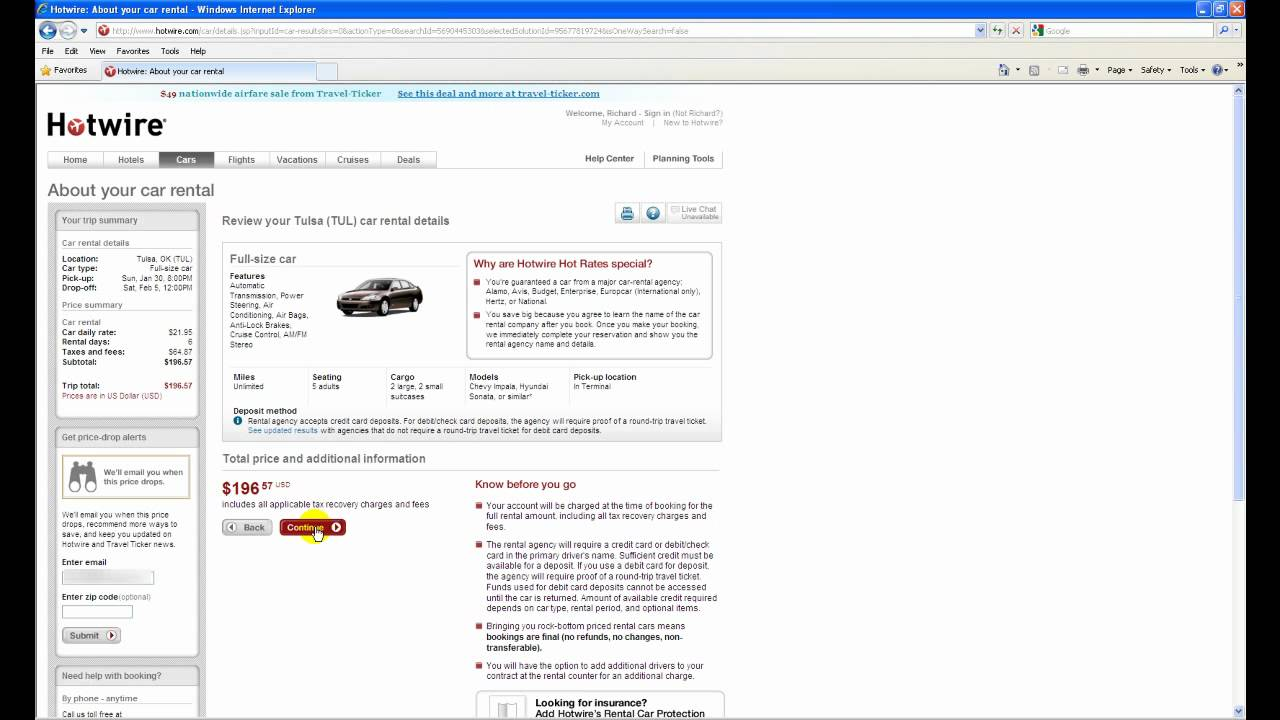 Hotwire Car: Renting A Car With Hotwire