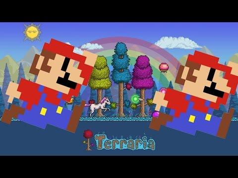 видео: Террария. Бегаем на перегонки в Марио мире вместе с ison