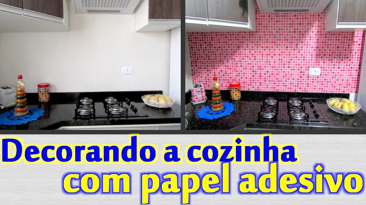 Papel De Parede No Armario De Cozinha : Decorando a cozinha com papel adesivo