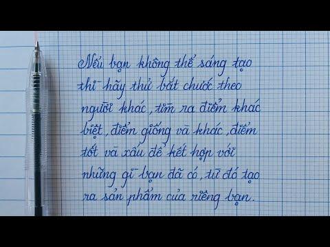 Font chữ viết tay bằng bút bi đẹp và dễ tập | Calligraphy Handwriting