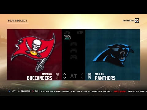 Madden NFL 18 All Madden Bucs vs Panthers | Lunch Break Livestream