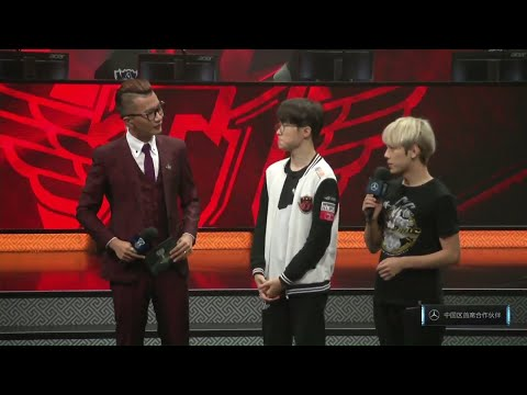LPL & LCK Only | Faker Interview | Introduces Himself in Chinese Language?
