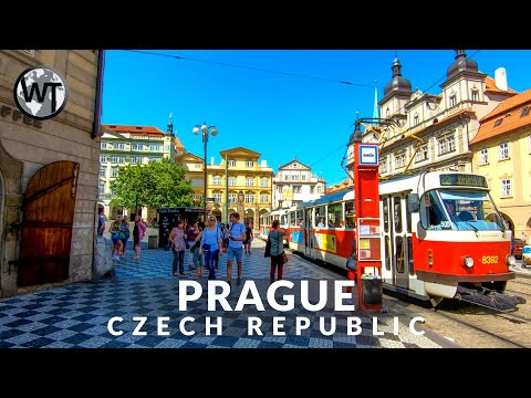Prague, Castle to Charles Bridge - 🇨🇿 Czech Republic - 4K Virtual Tour