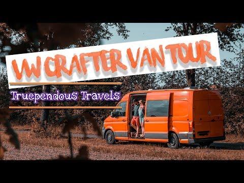 INSIDE a new off-grid VW CRAFTER camper | Van Tour