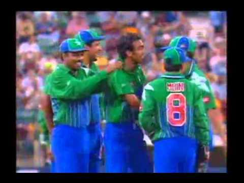 Mohammad Zahid GREAT BOWLING TO BRIAN LARA 1996/97 Gabba
