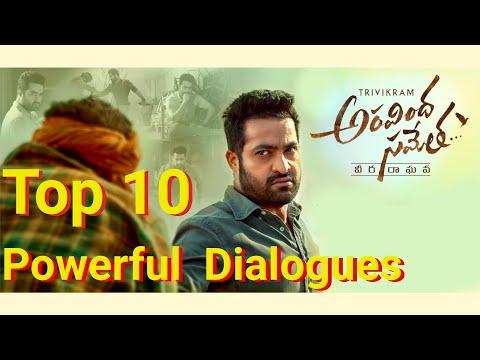 Top 10 Aravinda Sametha Dialogues   Jr.NTR   Pooja Hegde   Trivikram    Best Vibes