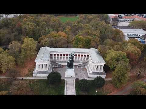 Theresienwiese and Bavaria Statue in Munich - DJI Mavic Pro