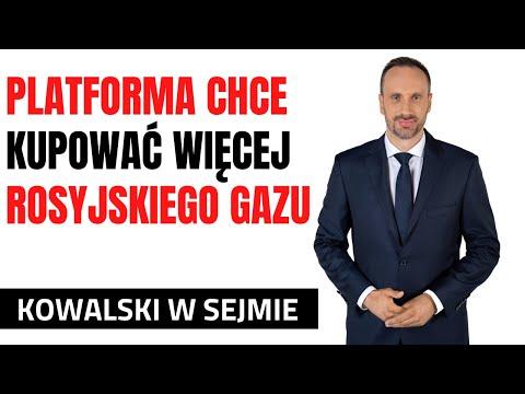Janusz Kowalski w Sejmie: PO chce kupować więcej gazu od Putina gazociągiem Jamalskim!