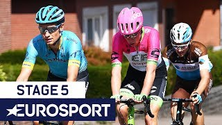 BinckBank Tour 2018 | Stage 5 Finish Highlights | Cycling | Eurosport