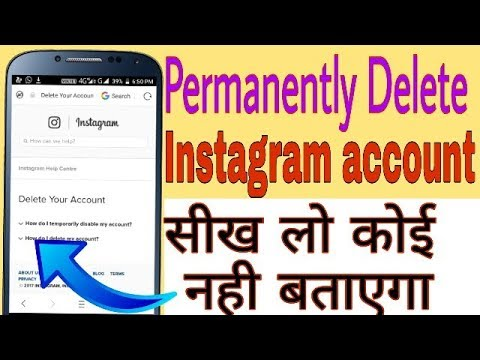 how to delete instagram on mobile