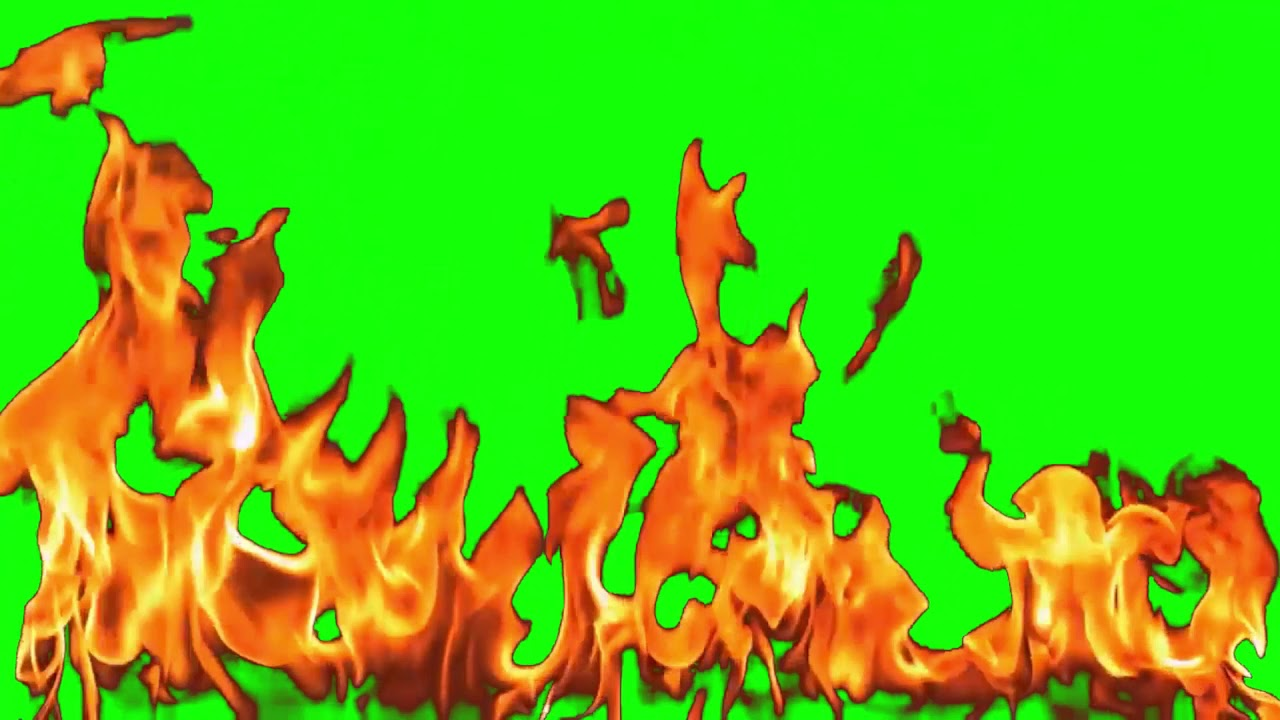 Fire Animation (green screen) - YouTube