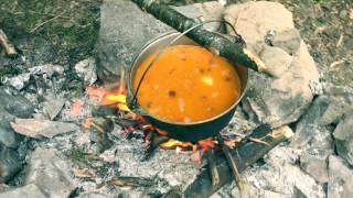 """[Яйцо Дракона]""""КУЛИШ"""" в горах. Рецепт приготовления Кулиша в Карпатах"""