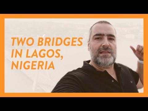 Victoria Island, Ikoyi, and Lekki from two bridges in Lagos Nigeria - Video 155