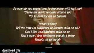 Jordin Sparks ft Chris Brown - No Air [LYRICS MUSIC VIDEO]